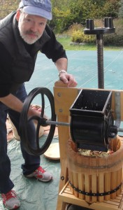 Sean making Cider