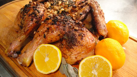 Chicken with Meyer Lemon