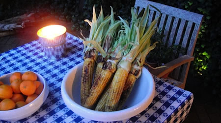 Grilled Corn with Josephine's Feast Curry Rub