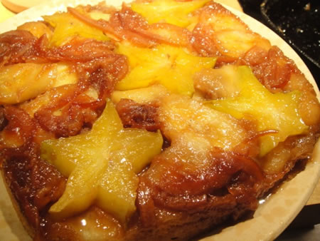 Star Fruit and Banana Upside Down Cake