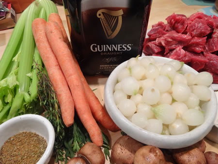 Guinness Stew ingredients