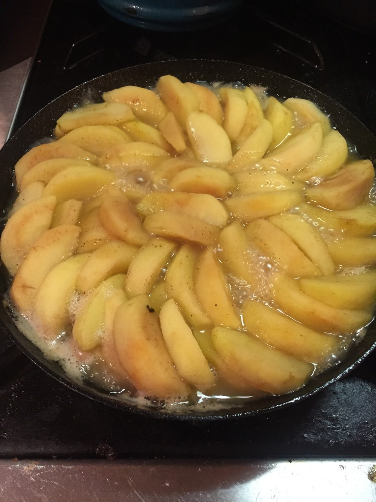Cook Apples in Pan