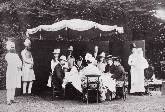 Queen Victoria Taking High Tea with Tsarina Alexandra of Russia